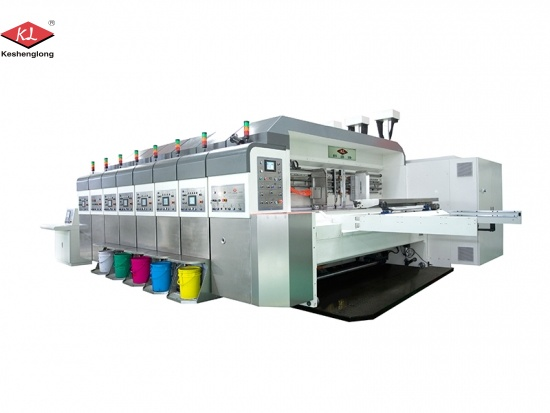 Automatic High Speed Corrugated Carton 4 Color Flexographic Printing Machine